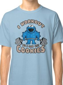 I Workout So I Can Eat Cookies - Cookie Monster Classic T-Shirt