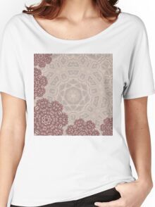 Autumnal abstract lace arabesque mandala ornament Women's Relaxed Fit T-Shirt