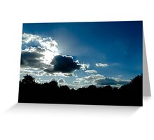 sunny clouds Greeting Card