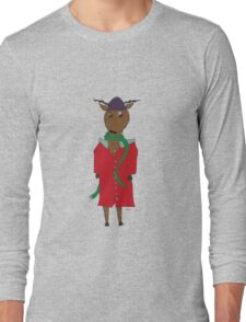 Diego the Deer in Winter Long Sleeve T-Shirt