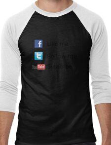 Nerd Things - Social  Men's Baseball ¾ T-Shirt