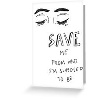 5 Seconds Of Summer Social Casualty lyrics Greeting Card
