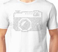 world city list to visit Unisex T-Shirt