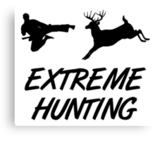 Extreme Hunting Karate Kick Deer Canvas Print