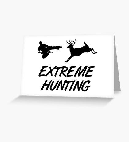 Extreme Hunting Karate Kick Deer Greeting Card