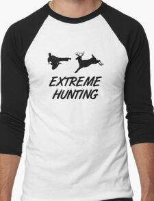 Extreme Hunting Karate Kick Deer Men's Baseball ¾ T-Shirt