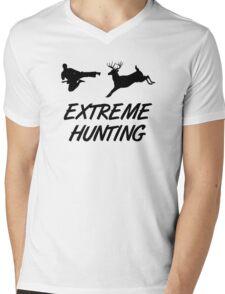 Extreme Hunting Karate Kick Deer Mens V-Neck T-Shirt