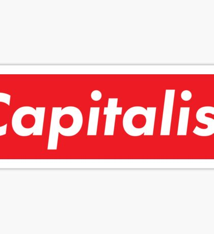 Capitalist supreme inspired Sticker