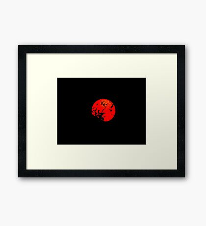 Red Moon Framed Print