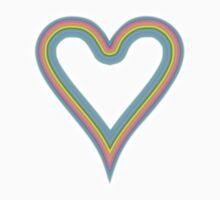 Heart Rainbow of Love T-Shirt One Piece - Short Sleeve