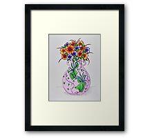 Flowers/37 - Pink Vase Framed Print