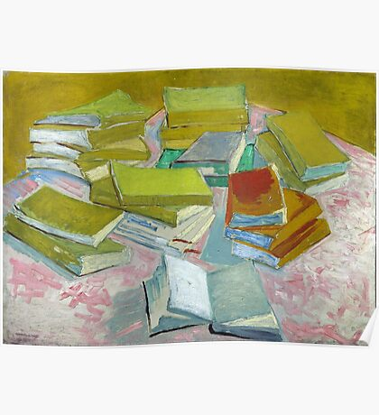 Vincent Van Gogh - Pile of French Novels, Book lovers! Poster