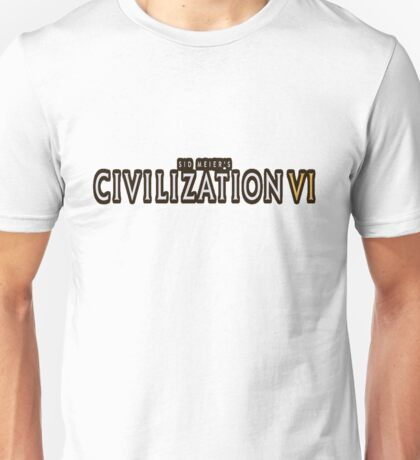 Civilization VI white logo Unisex T-Shirt