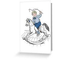 Rocking horse hero Greeting Card