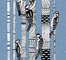 Woodpeckers Forest by Ruta Dumalakaite