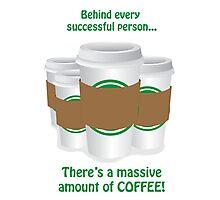 Successful Coffeeholic Photographic Print