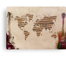 Music world map Canvas Print