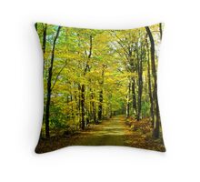 Fall in New Hampshire: Yellow Wood Throw Pillow