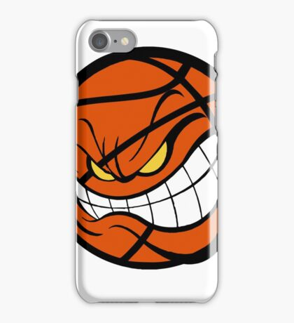 Angry Basketball Print  iPhone Case/Skin