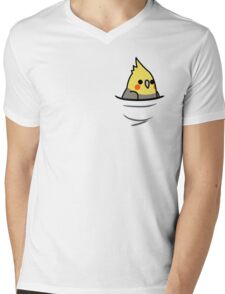 Too Many Birds! - Yellow Cockatiel Mens V-Neck T-Shirt