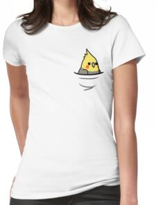 Too Many Birds! - Yellow Cockatiel Womens Fitted T-Shirt