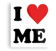 I Love Me Heart Metal Print