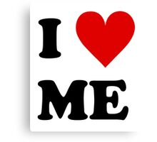 I Love Me Heart Canvas Print