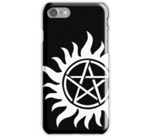 Anti-Possession Tattoo Symbol White Version - Supernatural Inspired iPhone Case/Skin
