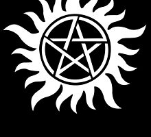 Anti-Possession Tattoo Symbol White Version - Supernatural Inspired by AdrienneOrpheus