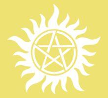 Anti-Possession Tattoo Symbol White Version - Supernatural Inspired One Piece - Short Sleeve