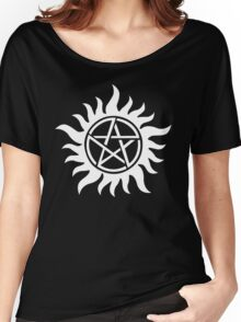 Anti-Possession Tattoo Symbol White Version - Supernatural Inspired Women's Relaxed Fit T-Shirt