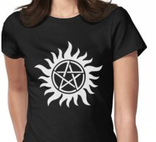 Anti-Possession Tattoo Symbol White Version - Supernatural Inspired Womens Fitted T-Shirt