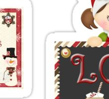 Christmas Products - Loco for Cocoa Mugs Sticker