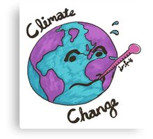 Climate Change - Sick Earth [full] Canvas Print