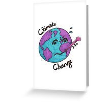 Climate Change - Sick Earth [full] Greeting Card