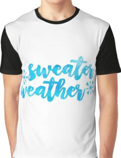 sweater weather /blue watercolor/ Graphic T-Shirt