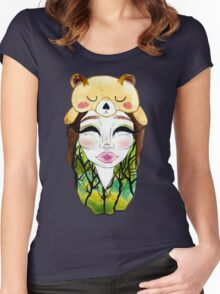 The Forest Alien Princess Women's Fitted Scoop T-Shirt