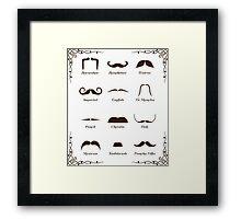 Mustache Style Identification Chart Framed Print