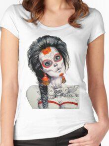 Calavera queen Women's Fitted Scoop T-Shirt
