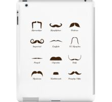 Mustache Style Identification Chart iPad Case/Skin