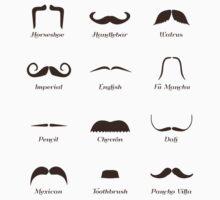 Mustache Style Identification Chart by TheShirtYurt