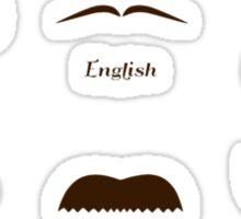 Mustache Style Identification Chart Sticker