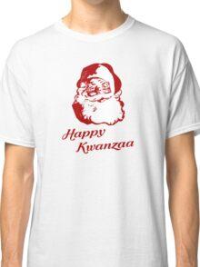 Happy Kwanzaa Christmas Santa Claus Classic T-Shirt