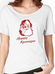 Happy Kwanzaa Christmas Santa Claus Women's Relaxed Fit T-Shirt