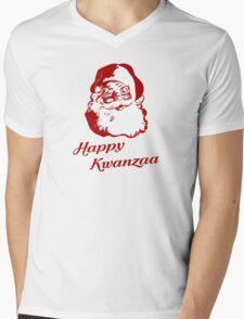 Happy Kwanzaa Christmas Santa Claus Mens V-Neck T-Shirt