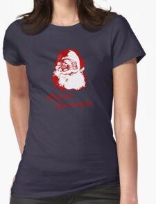 Happy Kwanzaa Christmas Santa Claus Womens Fitted T-Shirt