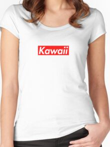 Kawaii - Supreme Font Women's Fitted Scoop T-Shirt