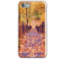 Stairs in the Fall iPhone Case/Skin