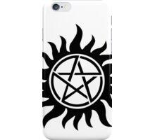 Supernatural inspired Anti-Possession Symbol Tattoo iPhone Case/Skin
