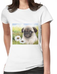 Dog 114 Pug Womens Fitted T-Shirt